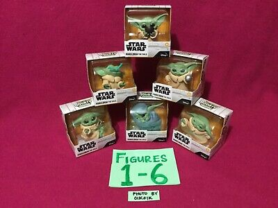 6 Toy SET Star Wars Mandalorian Baby Yoda Child Bounty Disney Hasbro Frog Soup