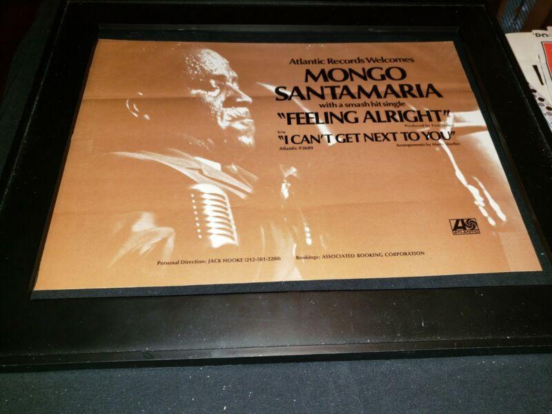 Mongo Santamaria Feeling Alright Rare Original Promo Poster Ad Framed!
