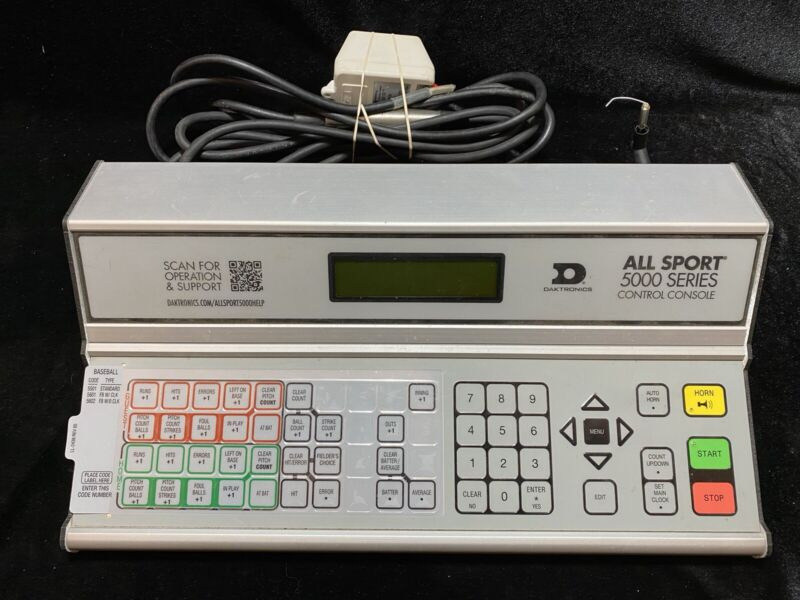 All Sport 5000 Series Control Console