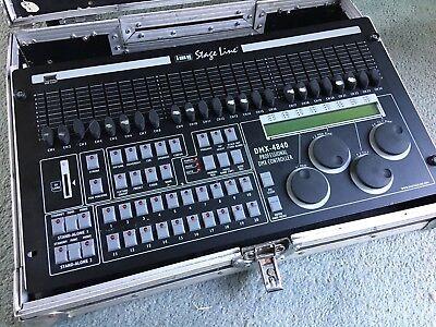 IMG STAGELINE DMX-4840 DMX-Controller with flight case