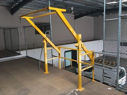 Mezzanine fence safety rail price drop building for Mezzanine guard rail