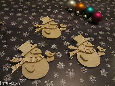 Geschenkanhänger für Weihnachten - Motiv Schneemann Geschenk basteln Kinder ()