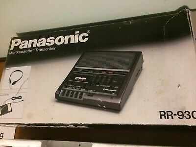 Panasonic Rr-930 Microcassette Transcriber With Foot Pedal Tested Working