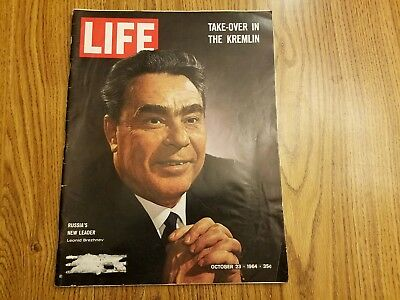 Oct. 1964 'Life' magazine w/article on The Beatles U.S. tour in complete vg cond