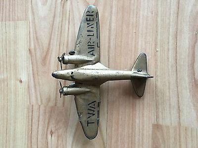Vintage Clockwork Gold TWA Airliner - possibly pre-war