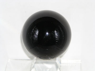 1  50mm BLACK OBSIDIAN STONE EXACT SPHERE Gemstone MARBLE REIKI CRYSTAL HEALING
