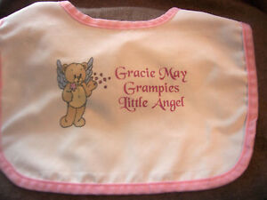 Personalised-Baby-Bibs-Christening-New-Born-Any-Text-Photo-GIFT-WRAPPED-FREE-P-P