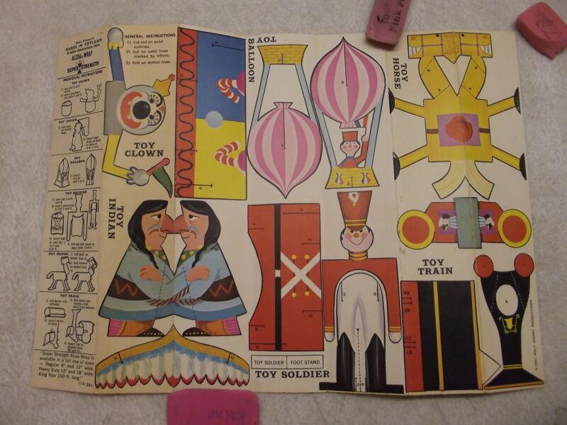 VINTAGE WALT DISNEY PRODUCTIONS 1961 ALCOA PREMIUM PAPER BABES IN TOYLAND