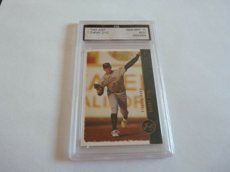 Barry Zito 1999 Just Rookie #250 FGS Graded Baseball Card Gem Mint 10