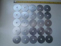 BLANKS 41 mm diameter x .9 mm thickness 20 gauge A 25 PACK OF ALUMINIUM DISCS