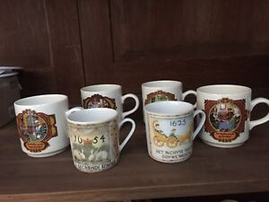 6 Collectable Dutch coffee cups.