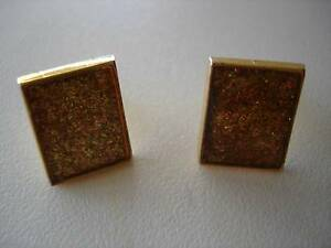 GLITTER-GOLD CUFFLINKS Murdoch Melville Area Preview