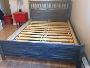 IKEA queen bed frame and mattress