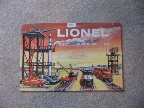 1958 LIONEL CONSUMER CATALOG EXCELLLENT (RS)