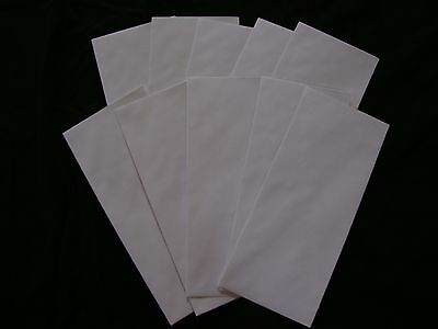 10 No. 10 Security Letter Envelopes Top Flight White Mead 4.1x9.5 Tinted Paper