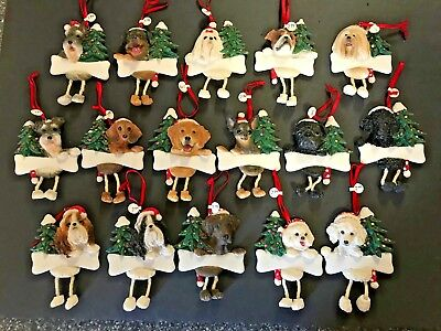 Personalised Christmas Ornaments (Personalized Christmas Dog Ornaments Dangling legs * I will Personalize w/)
