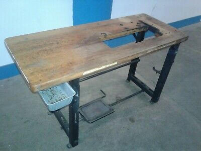 Vintage Singer Industrial Sewing Machine Table And Top. Our 2