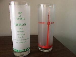 Souvenir CN Tower cocktail glasses (set of 14)