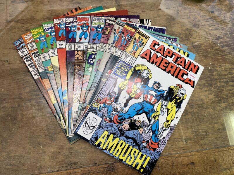 Lot Of 12 Marvel Comics Copper/Modern Captain America #346-429