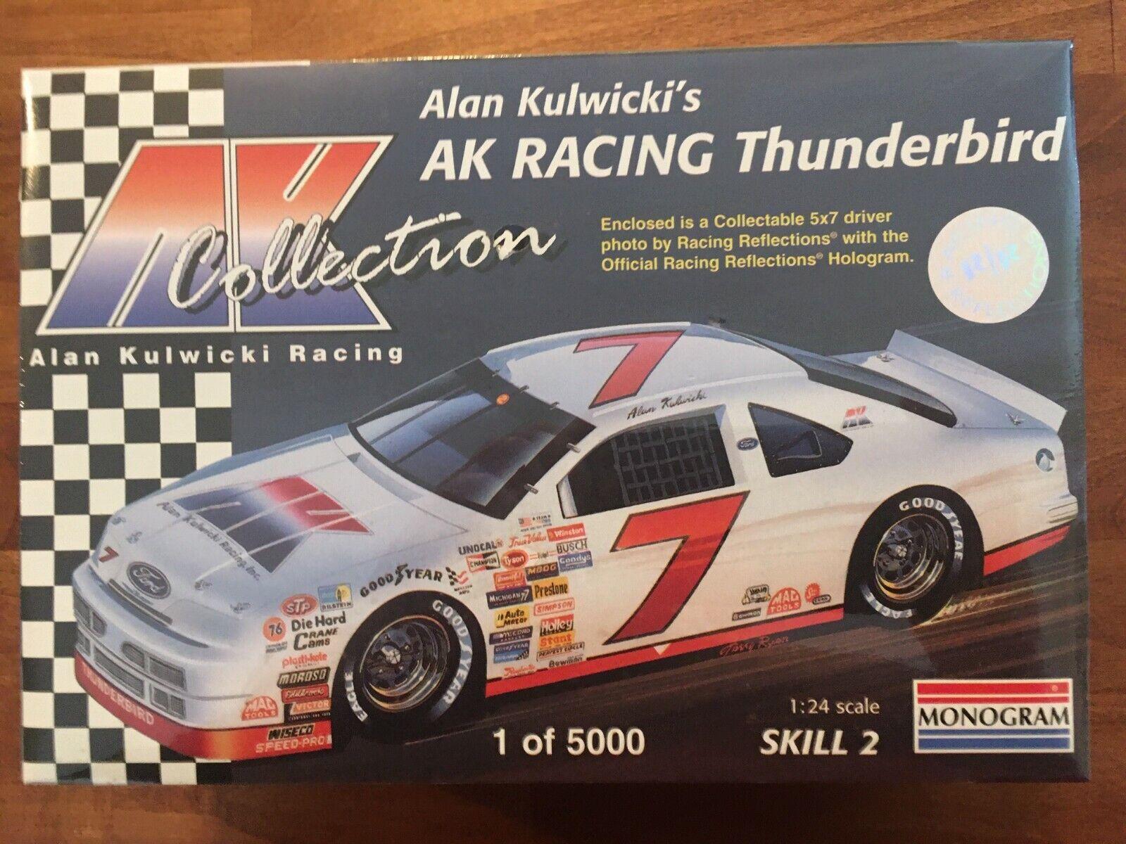 1991 Monogram 7 AK Racing Alan Kulwicki Ford Thunderbird 1/24 Model Kit - $18.50