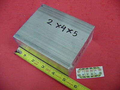 2 X 4 Aluminum 6061 Flat Bar 5 Long Solid T6511 Plate New Mill Stock 2.00