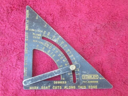 VINTAGE STANLEY ADJUSTABLE SET RAFTER SQUARE D290092 PLUMB / ANGLE SEAT CUTS