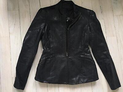 Theyskens' Theory Black Jabari Nurin Leather Jacket Size 2 - MSRP $995
