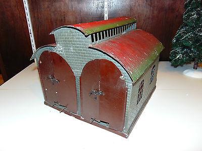 Nice Marklin Original Prewar O-Gauge 2-Bay Engine House