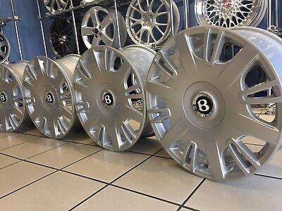 GENUINE BENTLEY 20 MULSANNE ALLOY WHEELS FINISHED IN ALL  SILVER