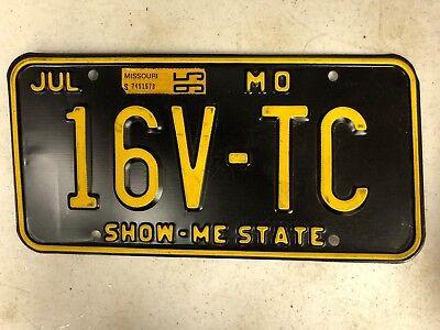 1995 Tag MISSOURI Show-Me State License Plate 16V-TC