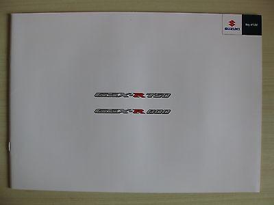 Suzuki GSX-R 750 & GSX-R 600 UK Sales Brochure (2011)