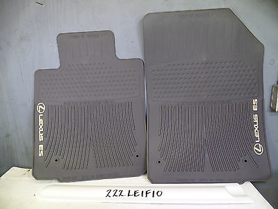 NICE OEM ALL WEATHER FLOOR MATS PAIR LEXUS ES350 2007 2012 Brown Tan