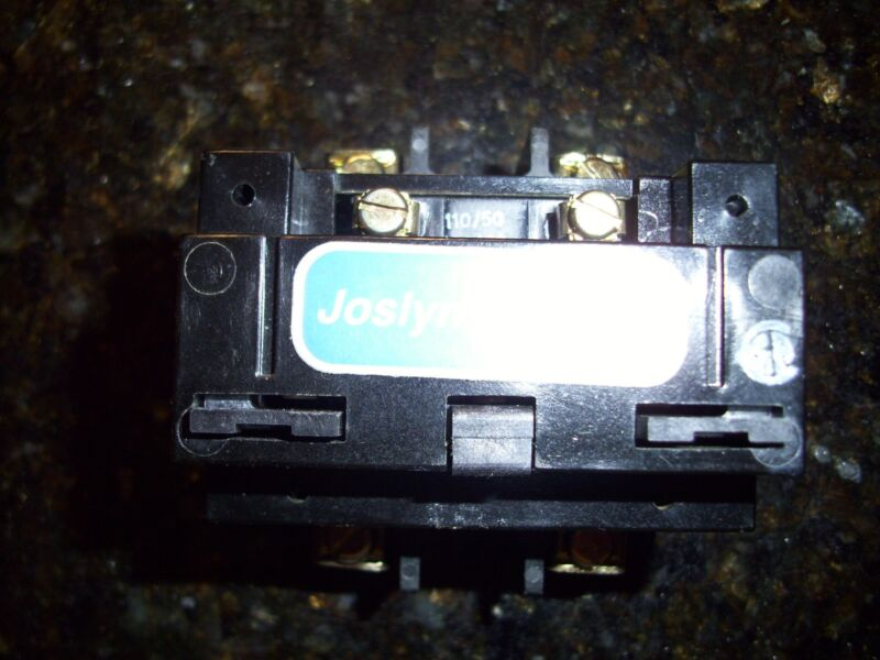 Pre-owned JOSLYN CLARK 40A 500VDC CONTACTOR COIL