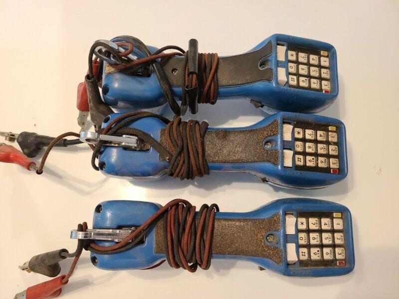 Lot of 3 HARRIS DRACON TS21 Linemans Phone Test Set Butt Sets