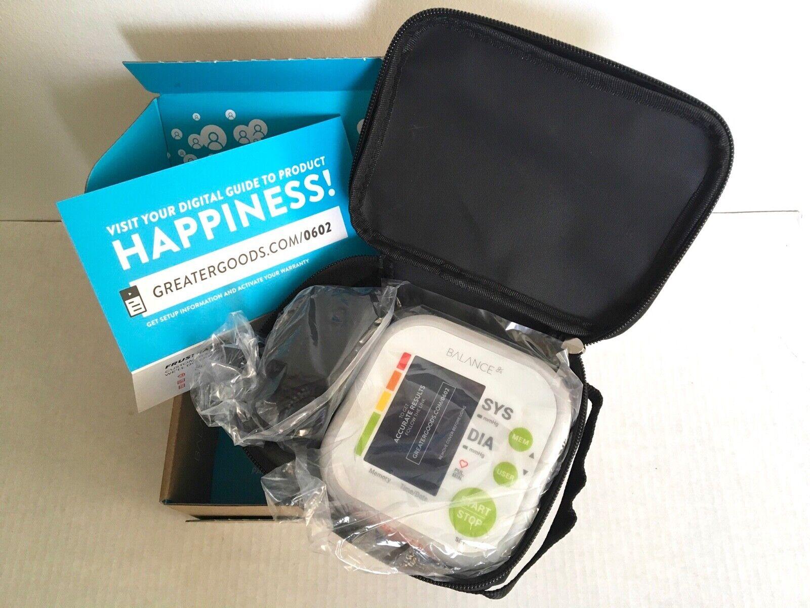 Greater Goods Balance Blood Pressure Monitor Kit Model 0602