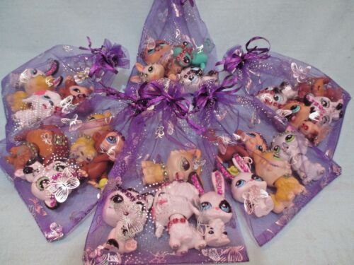Littlest Pet Shop Lot 4 Magic Motion Random Pets Cat Dog Lps BUY 3 GET 1 FREE