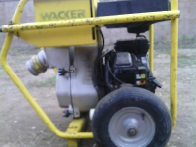 Wacker Pts 4v  4in100mm Centrifugal Trash Pump Gas Powered 16 Hp