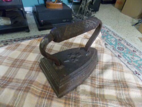 Antique B XX 7 Cast Iron Sad Iron Door Stop Collector VG !