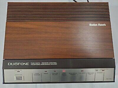 Vtg 80s Radio Shack Duofone TAD-320 Dual Cassette Telephone Answering Machine