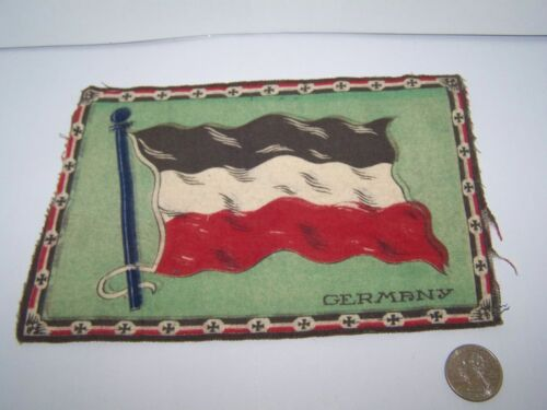 "c.1915 GERMANY FLAG FLANNEL CIGARETTE PACK TOBACCO FELT ANTIQUE 8.25"" x 5.5"""