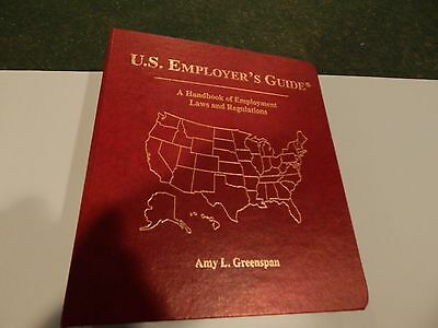 U  S  Employers Guide By Amy Greenspan  2001  Ringbound  8Th Edition