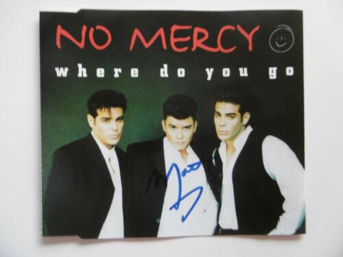 """Marty Cintron Autogramm signed CD-Cover """"No Mercy - Where Do You Go"""""""
