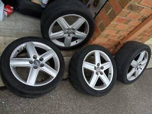 """Audi/Ronal 5x100 17"""" wheels and tyres (full set)"""