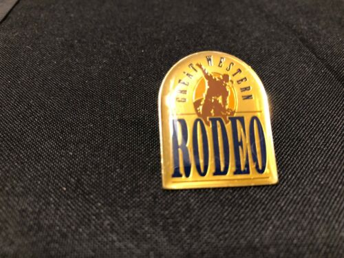 One NEW Great Western Rodeo Lapel Pin - Bucking Bronc & Cowboy Image - Clasp Pin