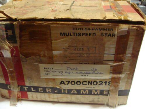 Cutler Hammer Multi Speed Starter NEW A700CNO218 Size 1 Ser B1 USA