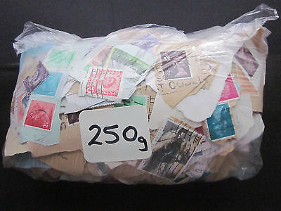 250 GRAMS OF USED GB CHARITY MIX KILOWARE MOSTLY DEFINITIVES & MAINLY PRE 1990.