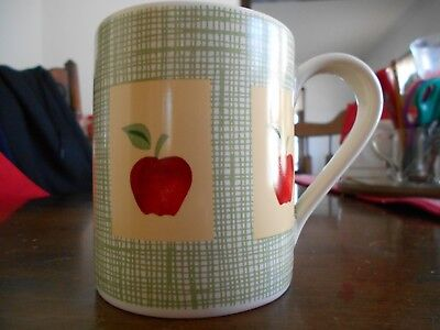 Apple Harvest Mug (s) 12 oz. Corelle Corning Genuine Stoneware White Red Green !