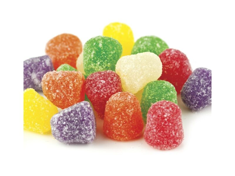 Sunrise 5 lb Assorted Flavor SPICE DROPS Chewy Jelly Candy Snack BULK Bag