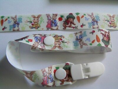 A GORGEOUS PETER RABBIT DUMMY CLIP /PACIFIER / TOY CLIP (NEW)