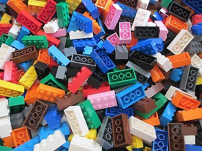 New Lego 2x4 Bricks Lot of 100 Assorted Colors Black White Gray Mix & More 2 x 4